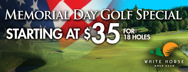 Memorial Day Weekend Golf Special