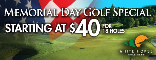 Memorial Day Weekend Golf Special